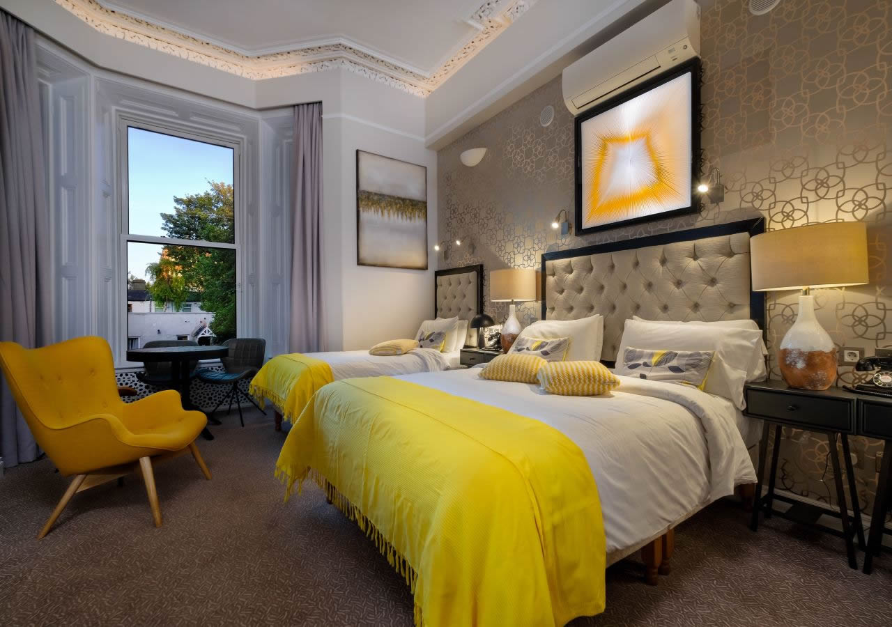 Roxford Lodge Hotel is one of the best boutique hotels in Dublin showing room with city view