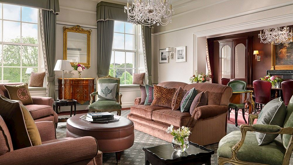 The Shelbourne, Autograph Collection princess_grace_suite - sofas and chairs with views from top luxury hotels in Dublin bedroom suite
