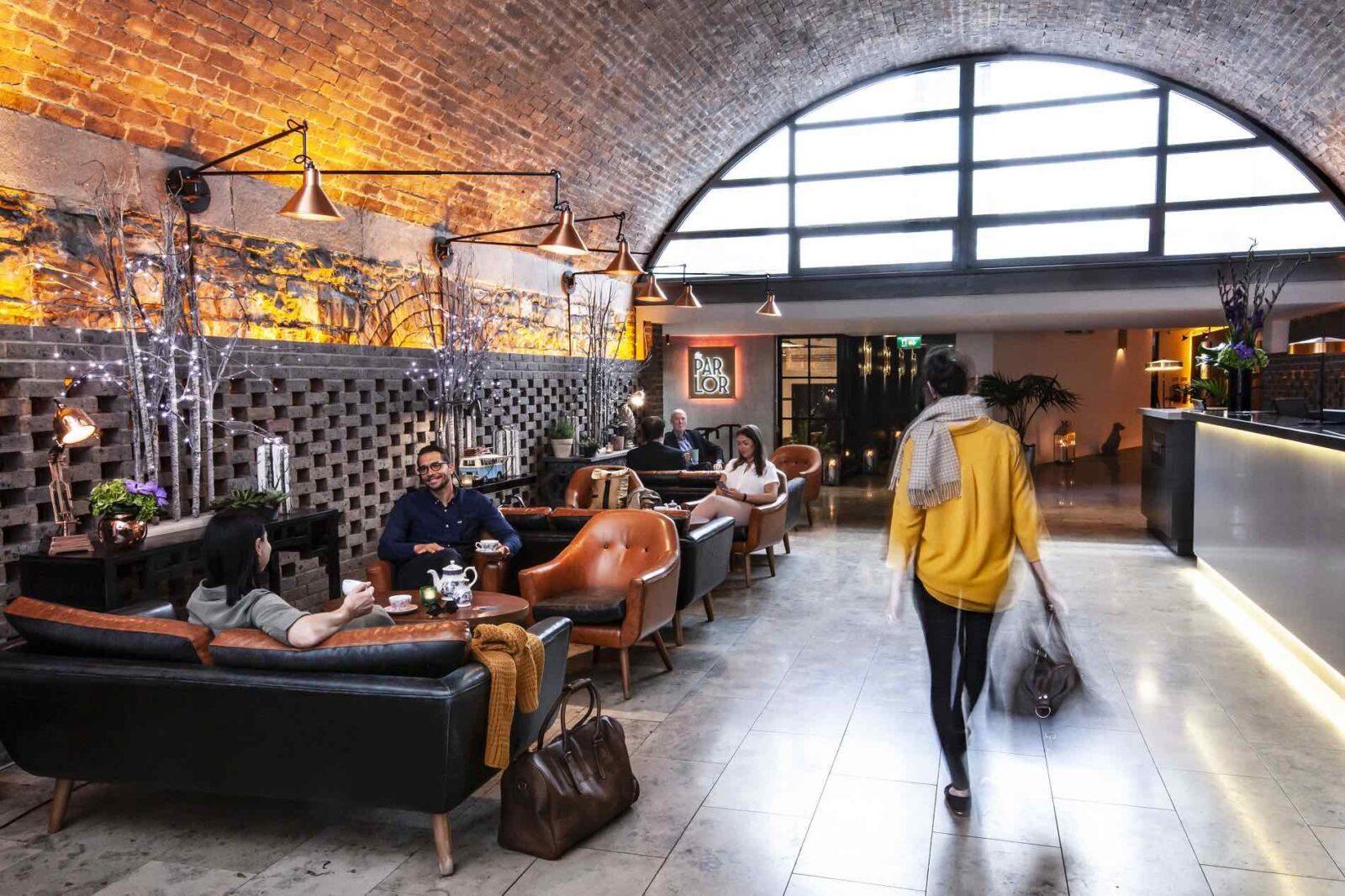 Address-Connolly-Lobby of best design hotels in Dublin