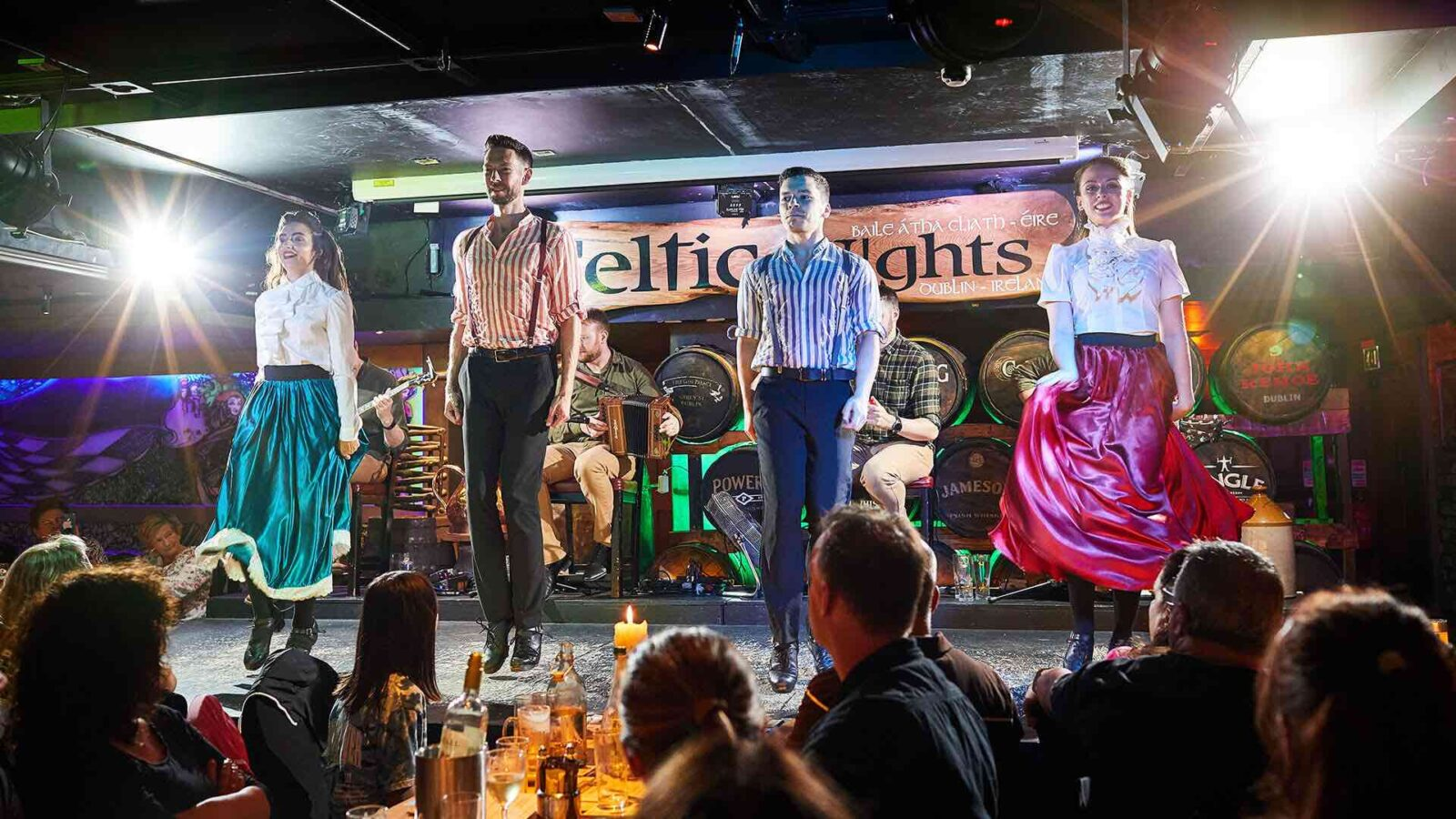 Celtic Nights at The Arlington - dancers on stage - Pub Hotels in Dublin