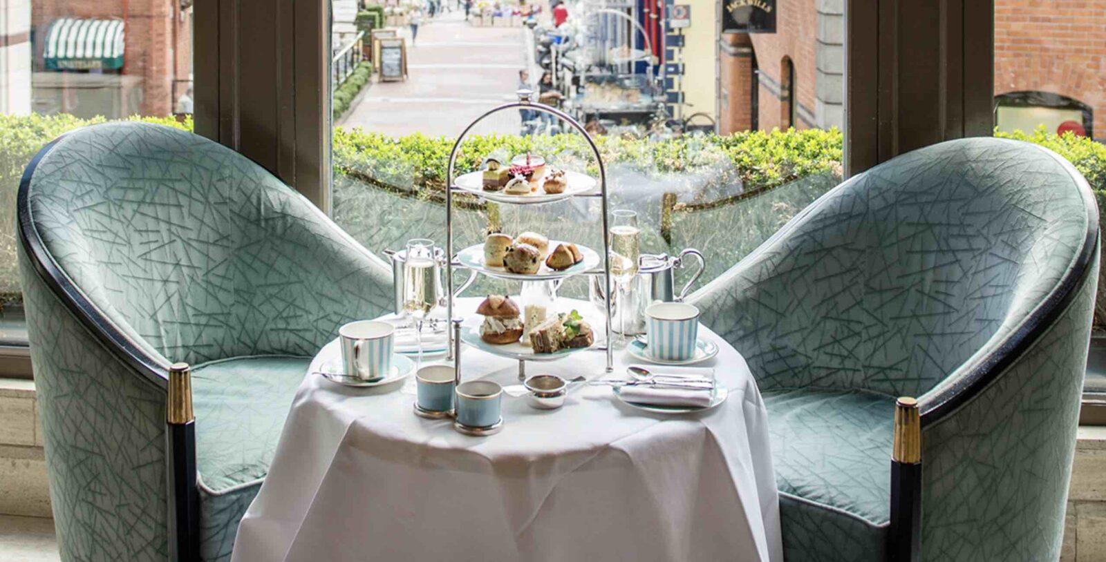 The Westbury Dublin hotels Afternoon tea seats by window